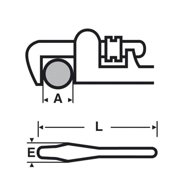 "Klucz Viragrip 18"" z lekkiego stopu VIRAX 013618"
