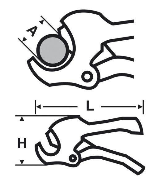 Obcinak PC 42 do rur z tworzyw sztucznych VIRAX 215042