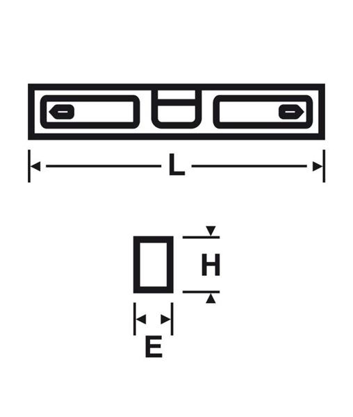 PROMOCJA !!! Poziomica z bolcami do poziomowania baterii ściennych VIRAX 263150