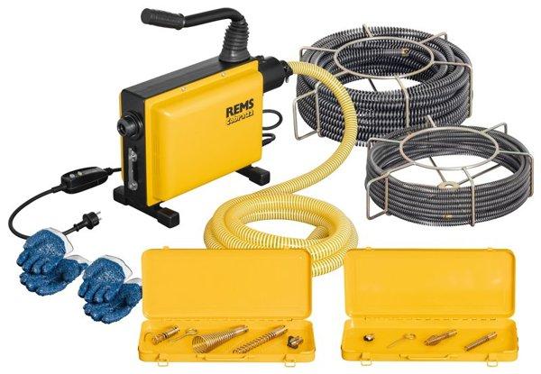 PROMOCJA !!!  REMS Cobra 22 Set 16 + 22 Elektryczna maszyna do czyszczenia rur